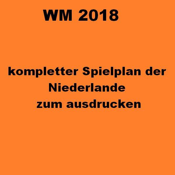 niederlande spielplan