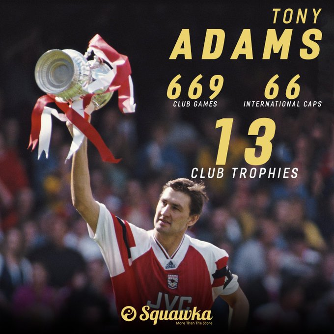 Happy 51st birthday, Tony Adams!  He was named Arsenal\s youngest ever club captain at 21-years-old.