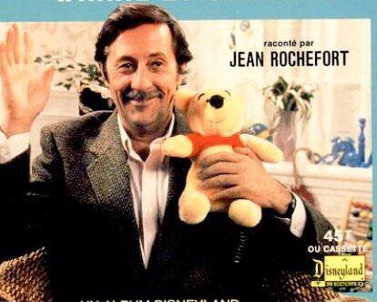 On a grandi avc les histoires de Winnie l'ourson raconté par Jean Rochefort R.I.P une légende du cinéma 1 sourire une moustache inoubliable