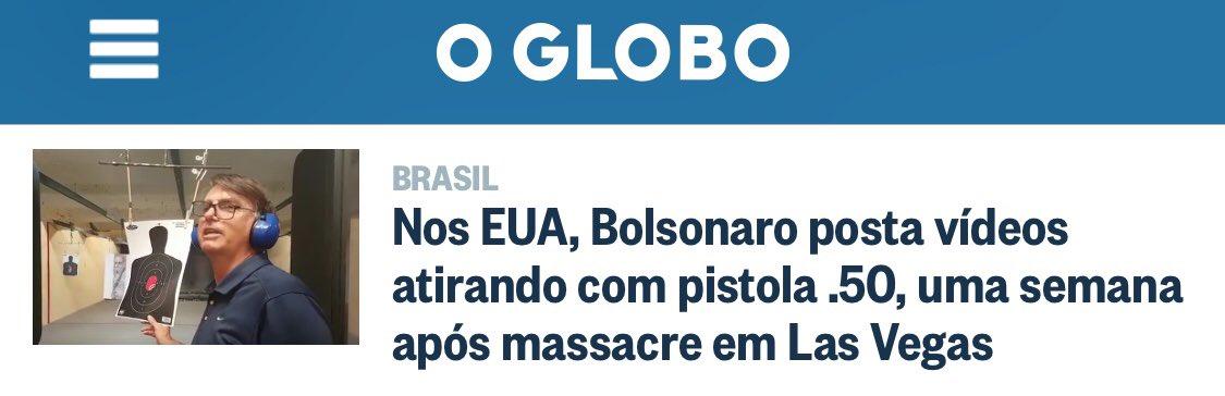 A que ponto chega mídia para demonizar Bolsonaro: ligar treino em clube de tiro e massacre. Só falta proibir tiro esportivo na Olimpíada.