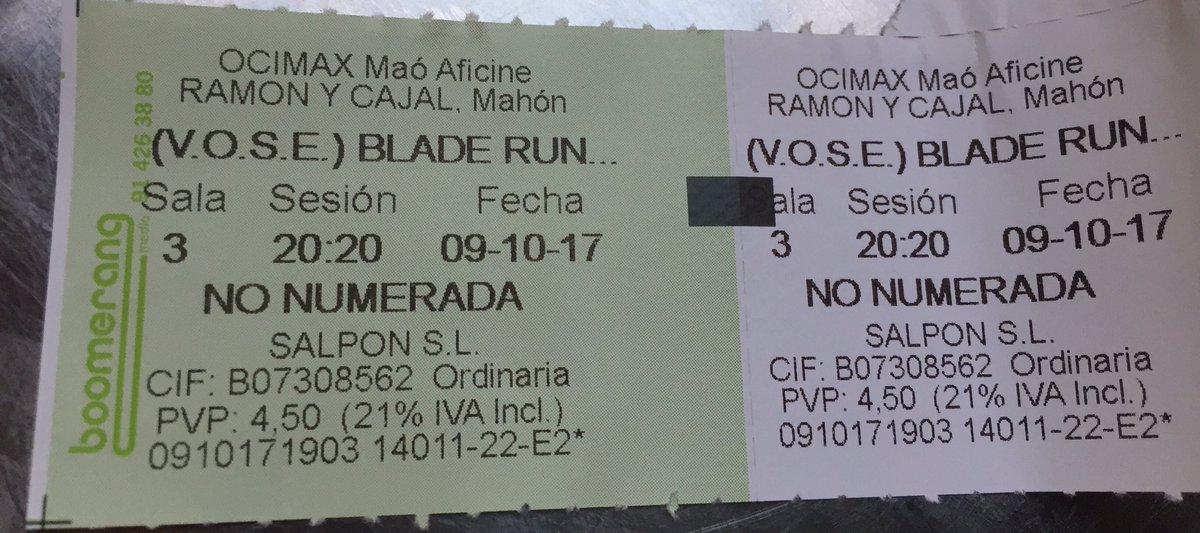 Edwin Winkels On Twitter Op Menorca Naar Blade Runner Alleen Op