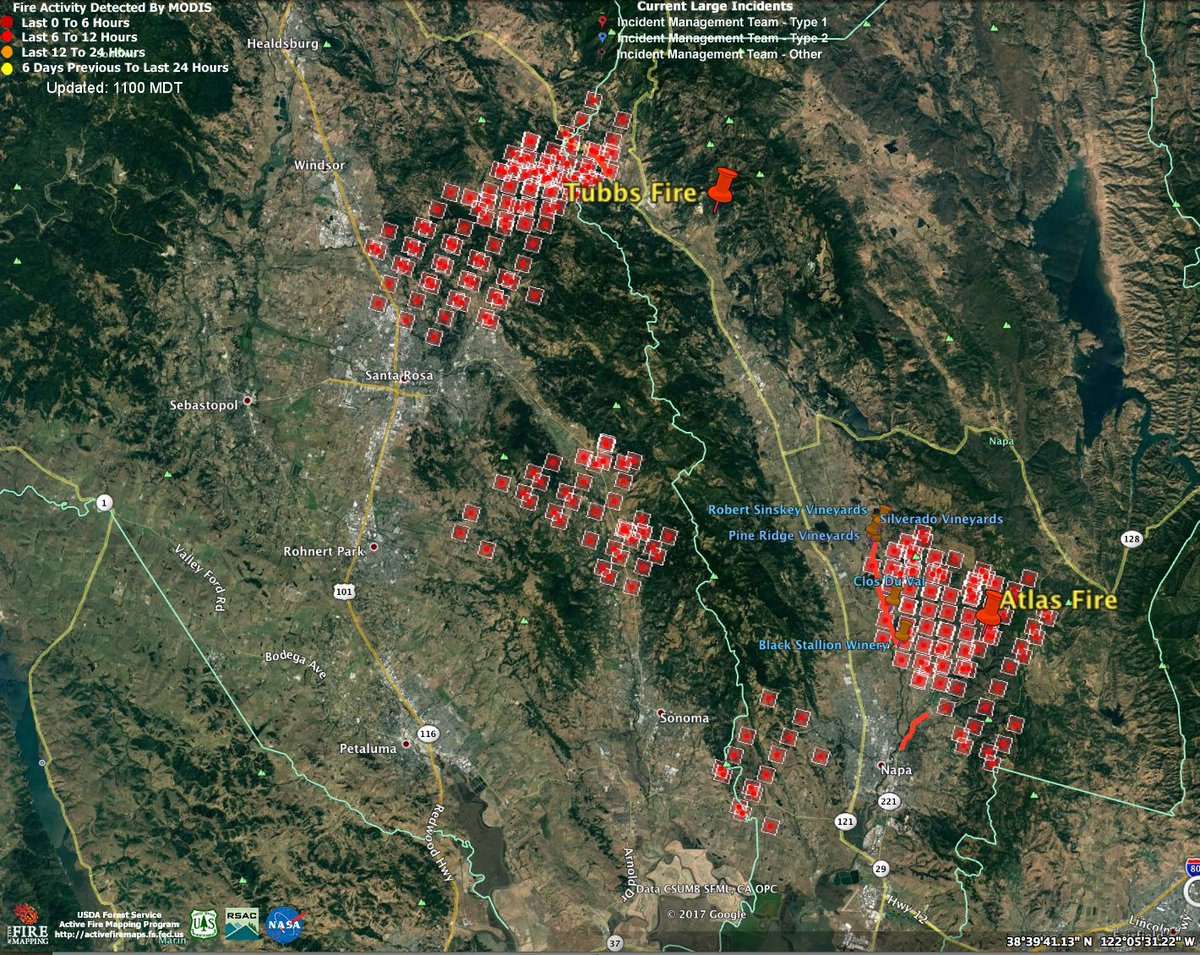 San Francisco Chronicle On Twitter Latest North Bay Fire Map See