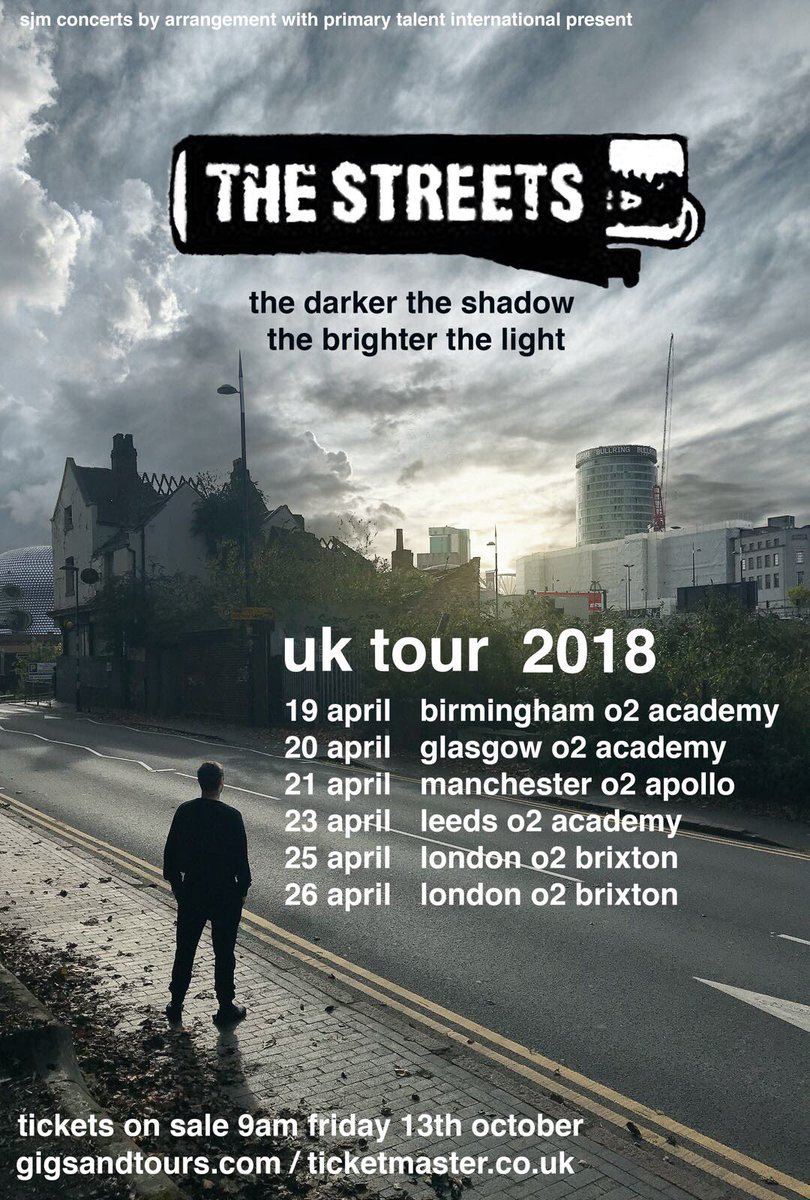 Mike Skinner The Streets Renuion Tour 2018