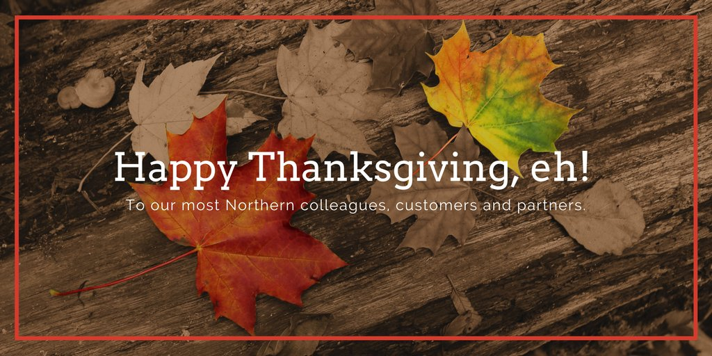 Happy #ThanksgivingCanada! To all #SageIntelligence&#39;s colleagues, customers and partners in the most Northern North, we wish you the best! <br>http://pic.twitter.com/DAyg3YtKir