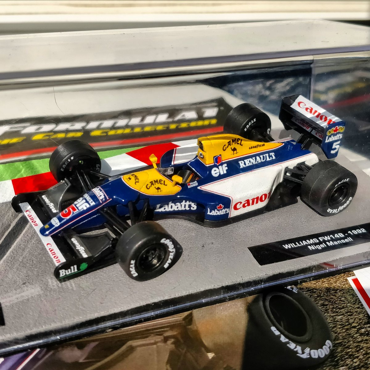 Great to have the legendary #Red5 Williams FW14B in my collection. Hands down the most beautiful #F1 livery ever. #WilliamsF1 <br>http://pic.twitter.com/mu1PQYuBZl