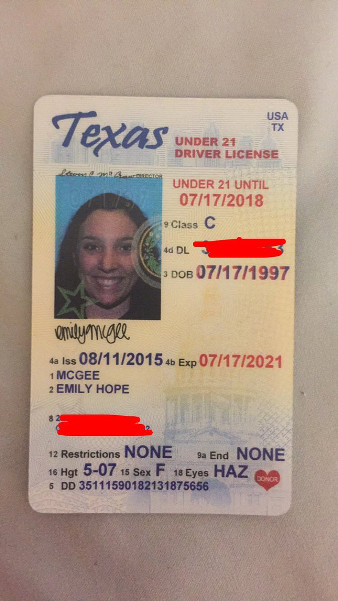 texas drivers license under 21