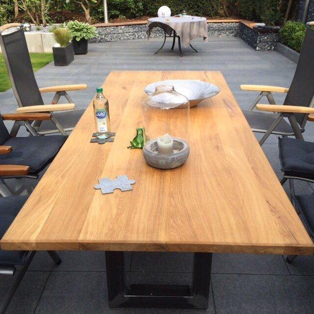 Massivholzmöbel On Twitter Gartentisch Mit Metallfuß Gartentisch