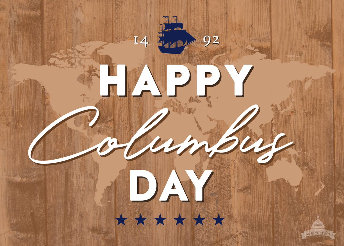 Happy #ColumbusDay from #HouseAg! https:...