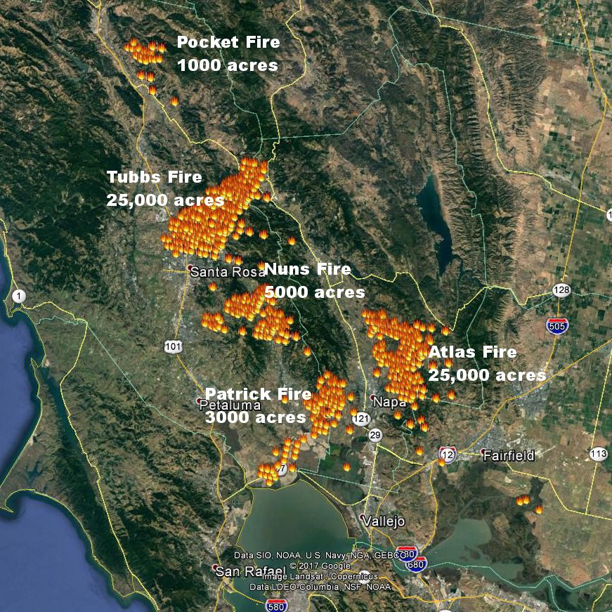 Jan Null On Twitter Updated North Sf Bay Fire Map From Noaa Fire
