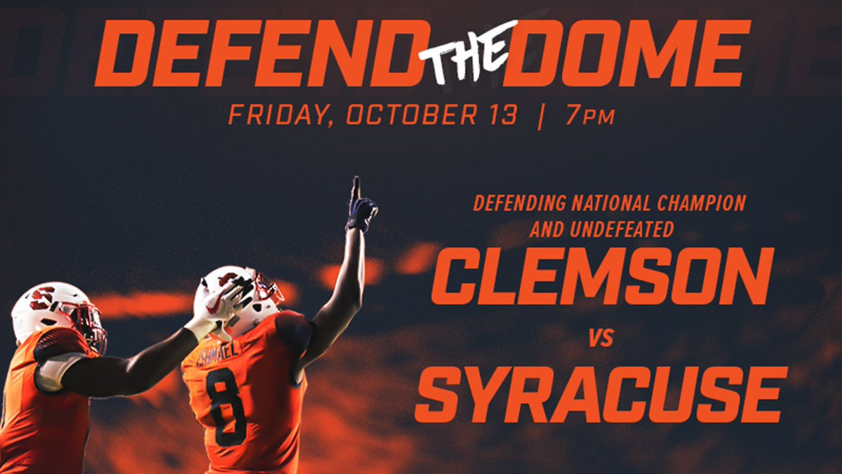 995cabbec Syracuse hosts Clemson in primetime Friday night matchup