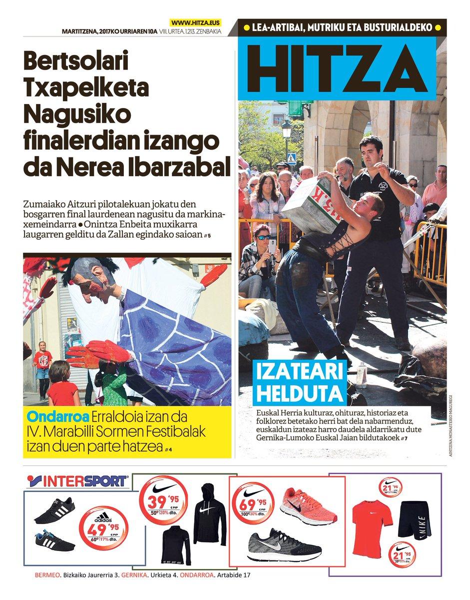 GAURKO AZALA (urriak 10, martitzena) #marabilli @AytGernika @txapelketa @Bertsozale @BBertsozale  @MarkinaXemein  @UdalBarriak