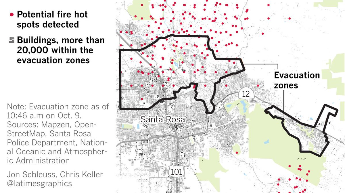 L A Times Graphics On Twitter About 20 000 Buildings Are