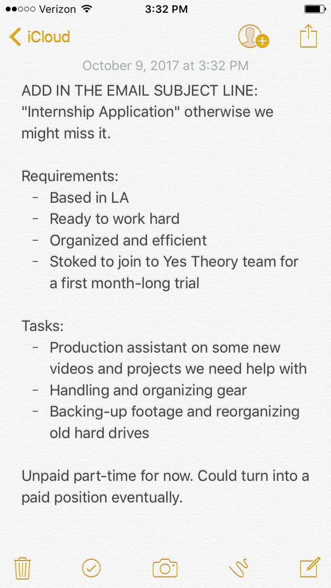 Yes Theory On Twitter Hiring An Hustling Intern Based Out