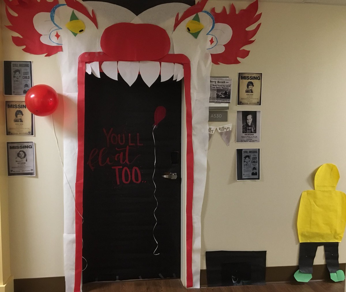 Rachael Flores On Twitter When You Initiate A Halloween Door Decorating Contest I M Prepared To Be Scared Every Night At Curfew Lura17