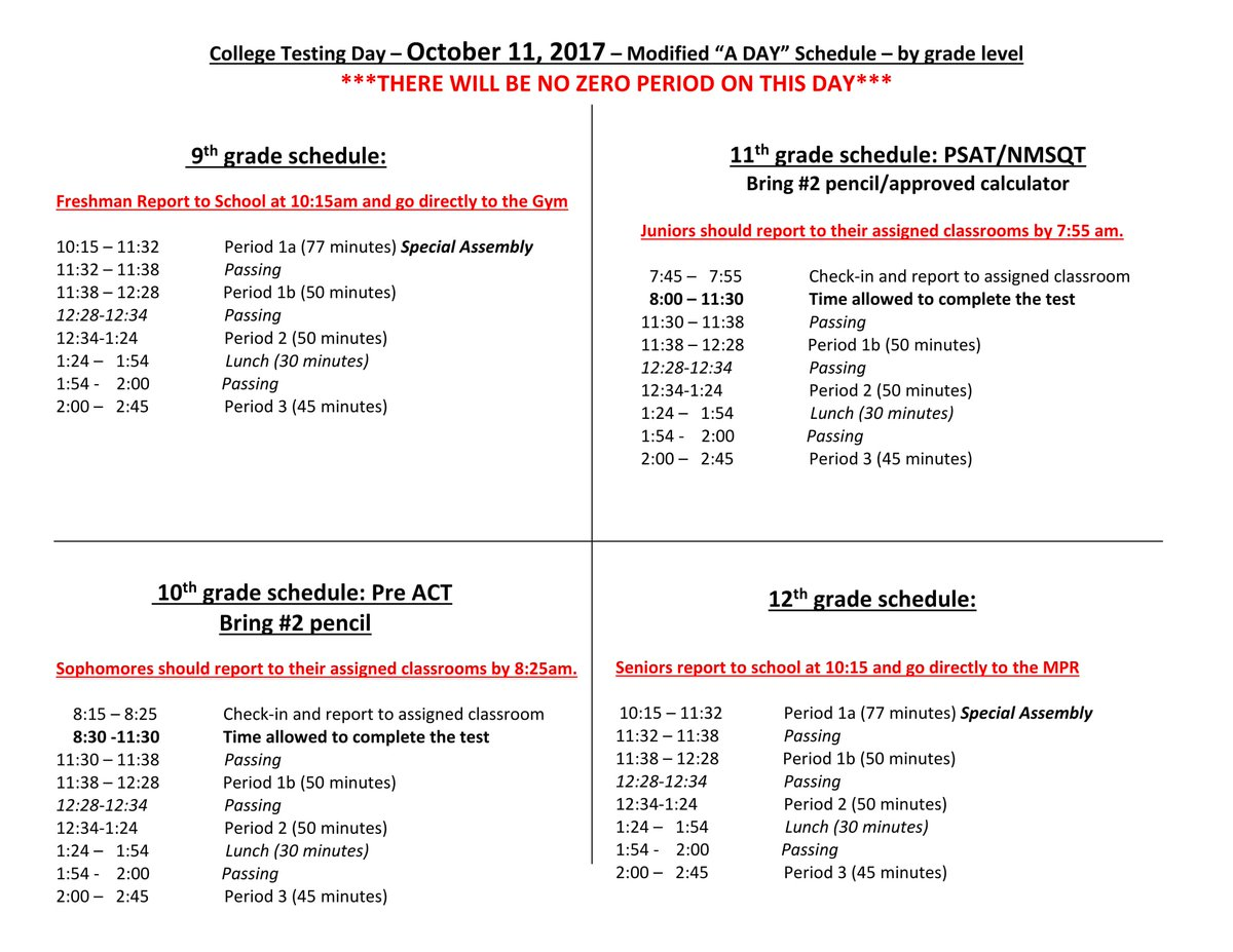 pvhs on twitter make sure to check the schedule below for college