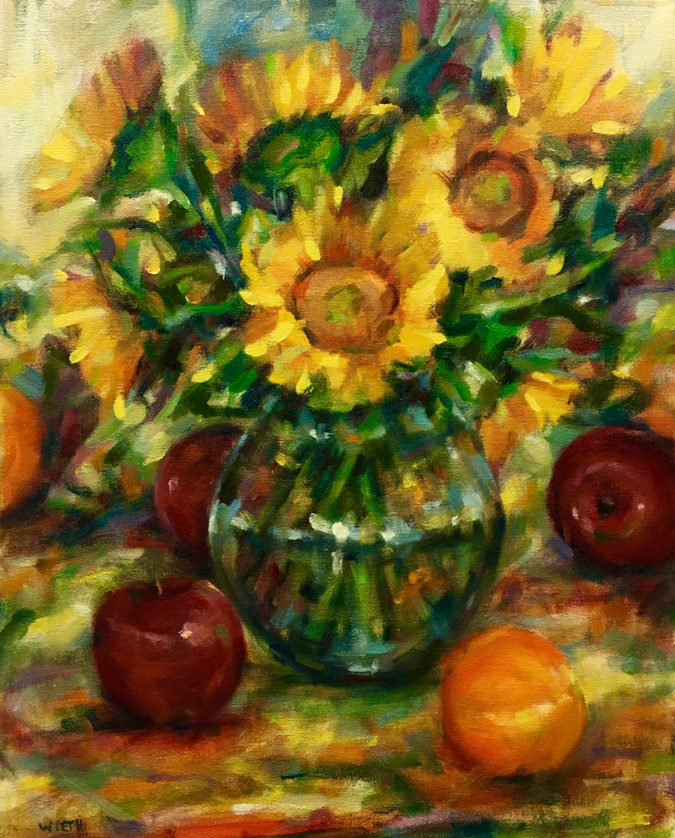 #sunflowers are done. #wieth #fineart #oilpainting #still-life #colors<br>http://pic.twitter.com/BfWC0JnGtV