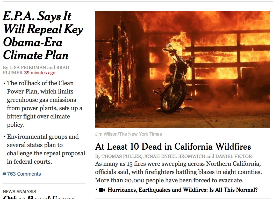 .@nytimes front-page presented without comment. #climate