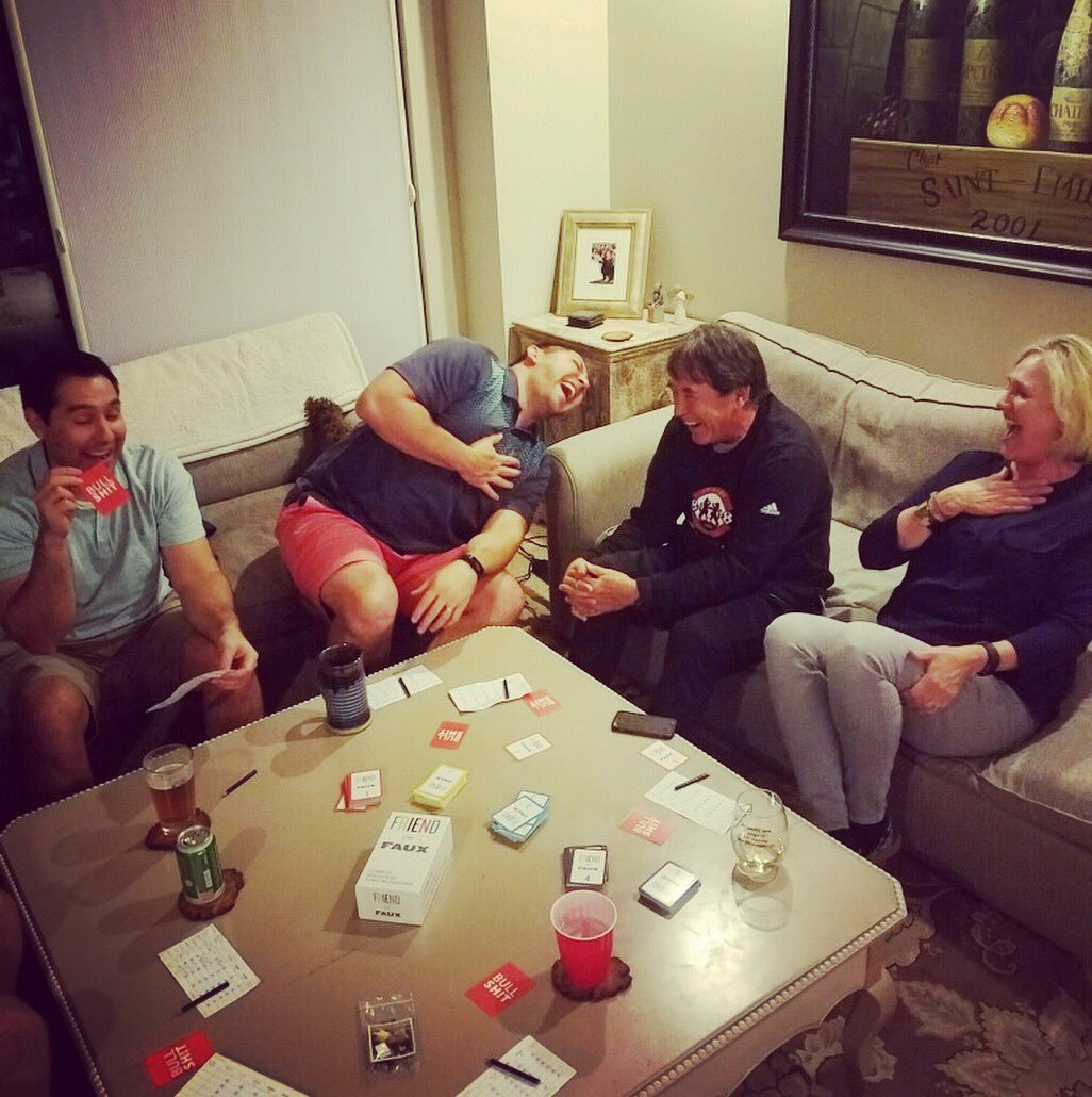 3 #brothers and their #parents play Friend or Faux - A Game of Ridiculously Revealing Questions.  What's could possibly be so funny?  #laugh #family #questionsandanswers #doyouremember #yourturn #gamenight #partygame #tabletopgames #knowyouraudience<br>http://pic.twitter.com/WRNU5oIUln