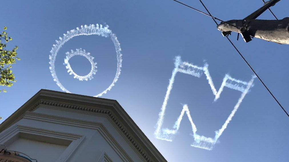 Skywriting in favour of #marriageequaili...