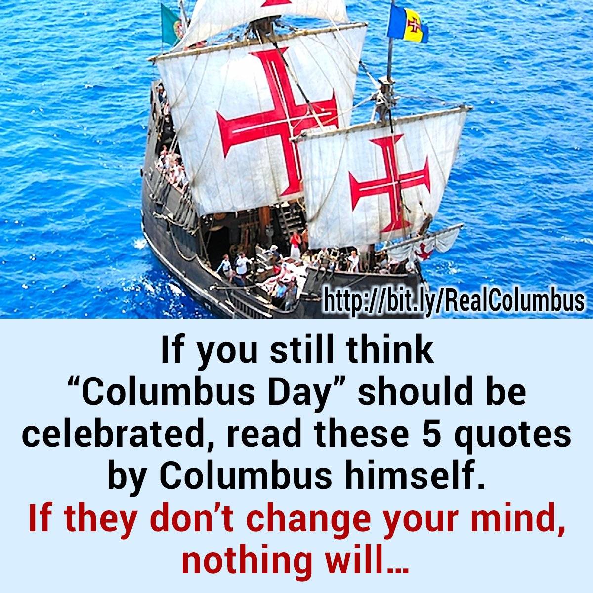 """columbus day should not be celebrated Top 5 reasons not to celebrate columbus day (and 1 reason to i learned """"in 1492 columbus sailed the ocean blue well, if that's not his name."""