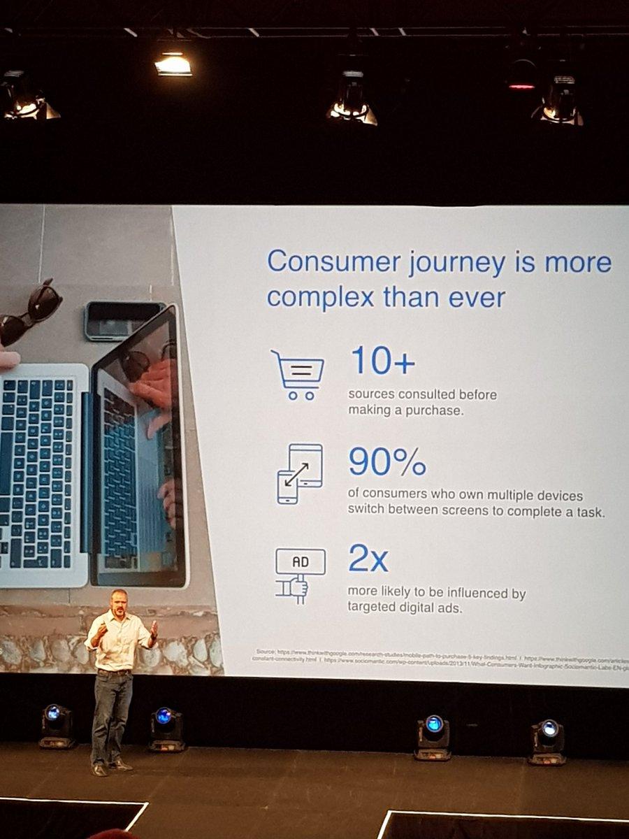 Consumer journey is more complex than ever #masterclass2017 #digitalmarketing #Sparcmedia https://t.co/8TNP4OVqPV