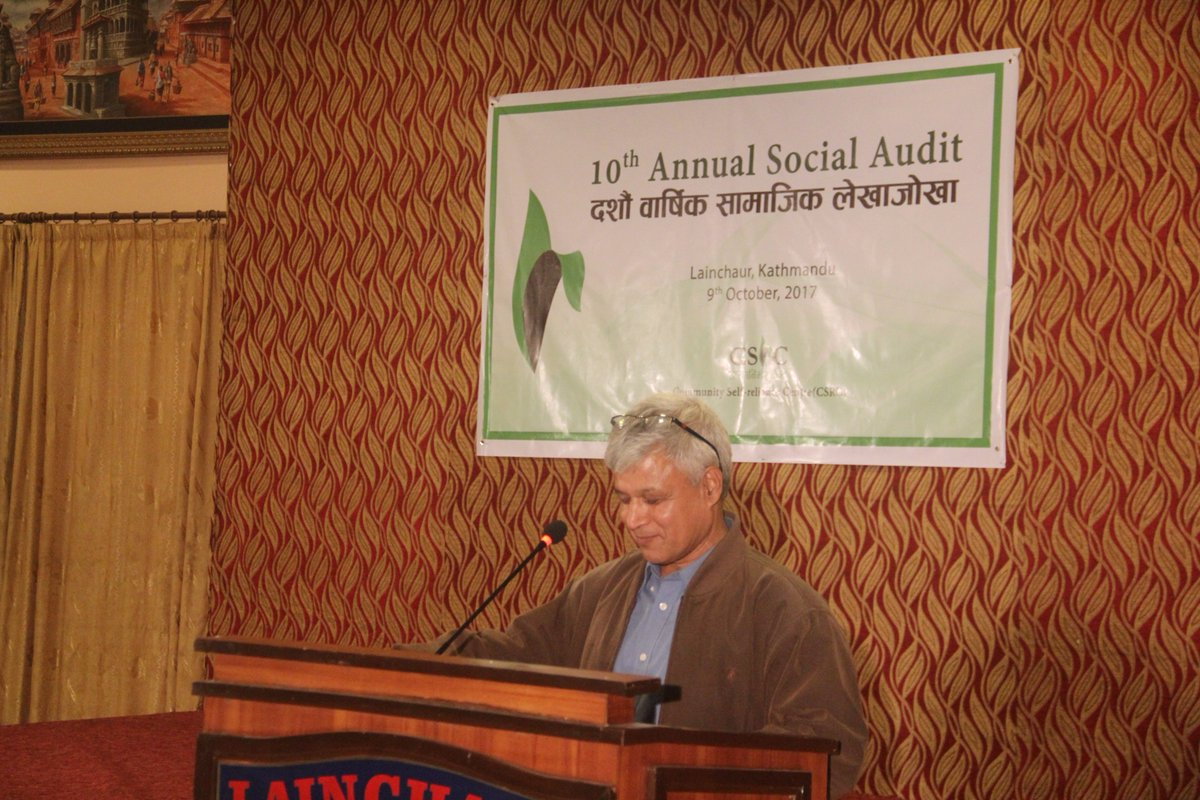 #10th Annual Social Audit #9th Oct 2017 #Lainchaur Banquet #presented an overall thematic and financial status of @CSRCNepal #F.Y 2073/74<br>http://pic.twitter.com/HZoZaosS9u