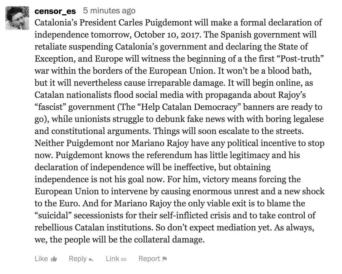 Mediation? I don&#39;t think so #10Oct #10octubre #Catalonia<br>http://pic.twitter.com/kxmNs2sDBj