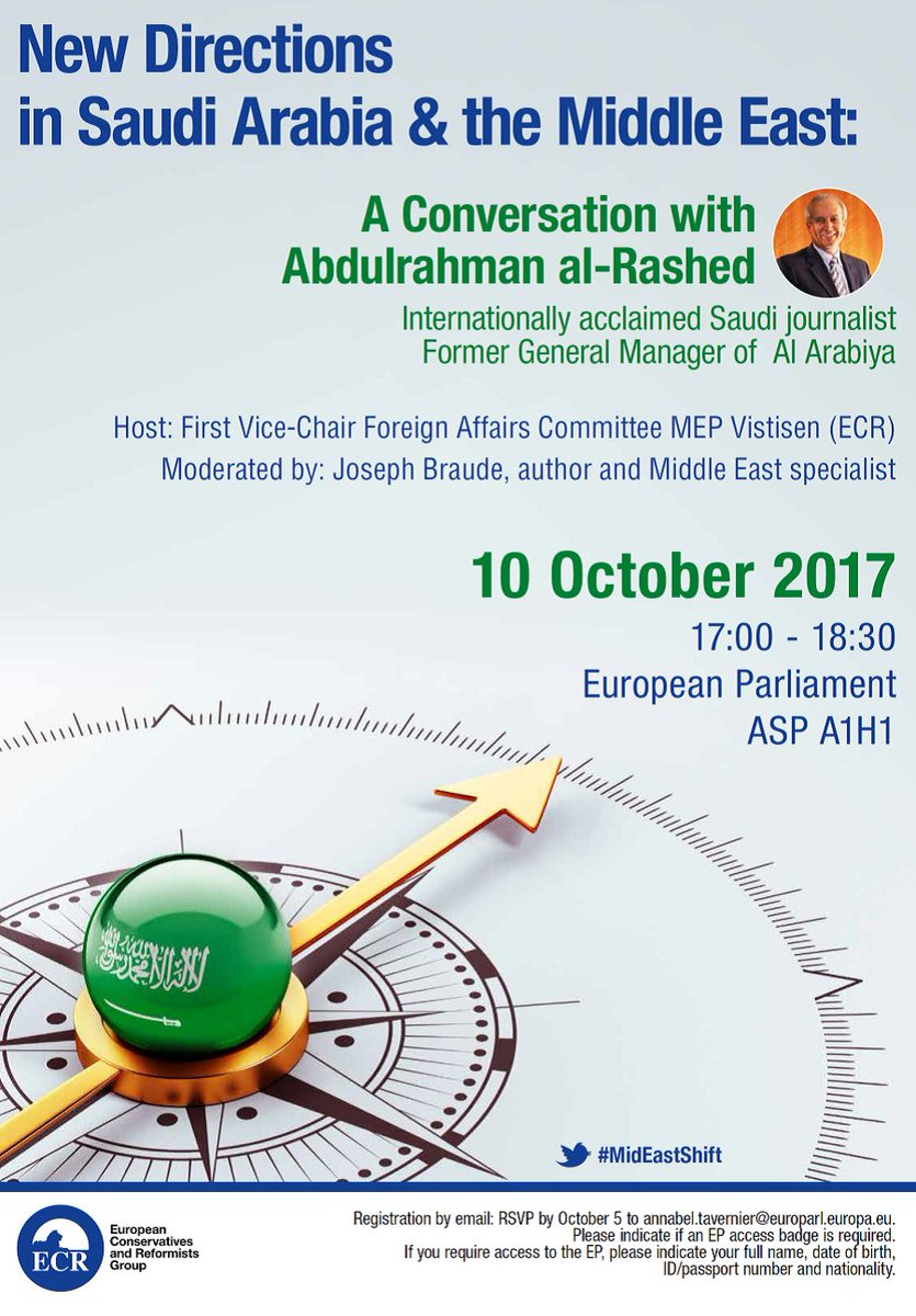 TODAY! Join stimulating conversation on changes in #KSA & Middle East w/ @aalrashed & @josephbraude hosted by @AndersVistisen  @ecrgroup