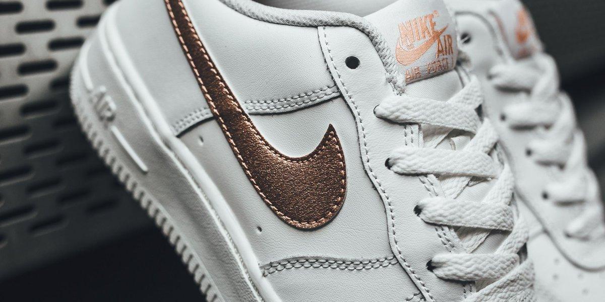 Nike Air Force 1 (GS) Summit White Metallic Red Bronze