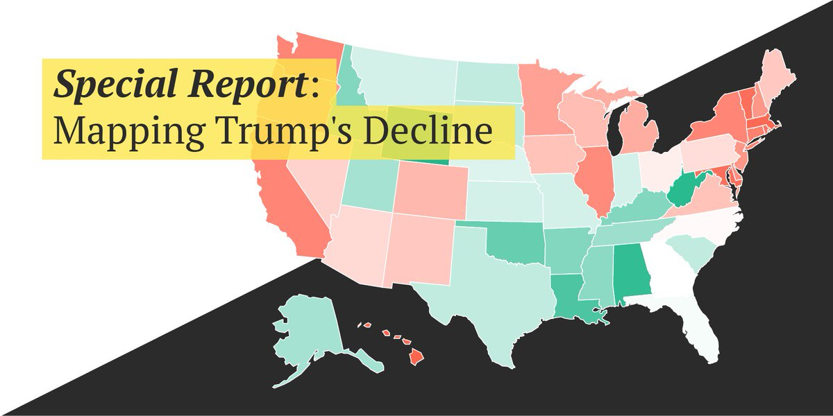Trump Support By State Map.Morning Consult On Twitter Special Report How Trump S Approval