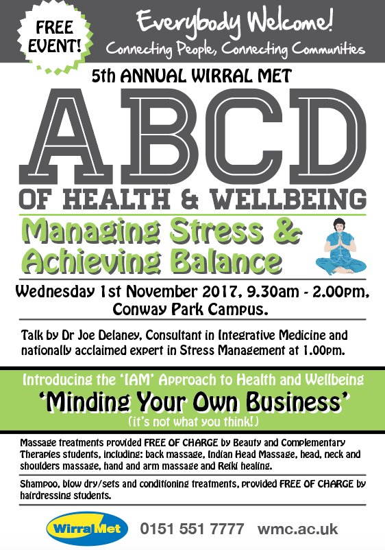 Free Talk Wednesday November 5th In >> Wirral Met College On Twitter Uplifting Health And Wellbeing