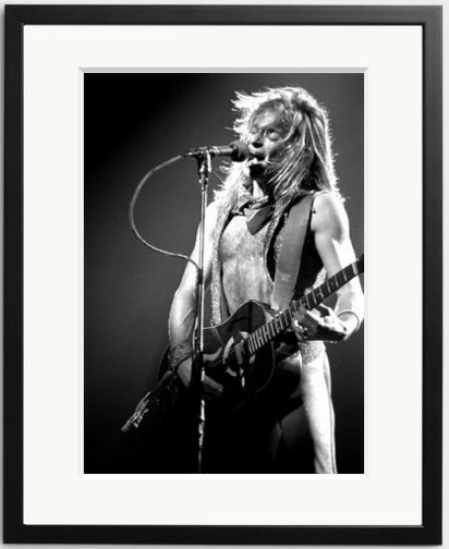 Happy Birthday to David Lee Roth of Van Halen. Photo by Janet Macoska, 1981.