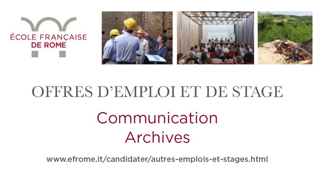 Ecole Francaise Rome On Twitter Emploi Et Stage Un