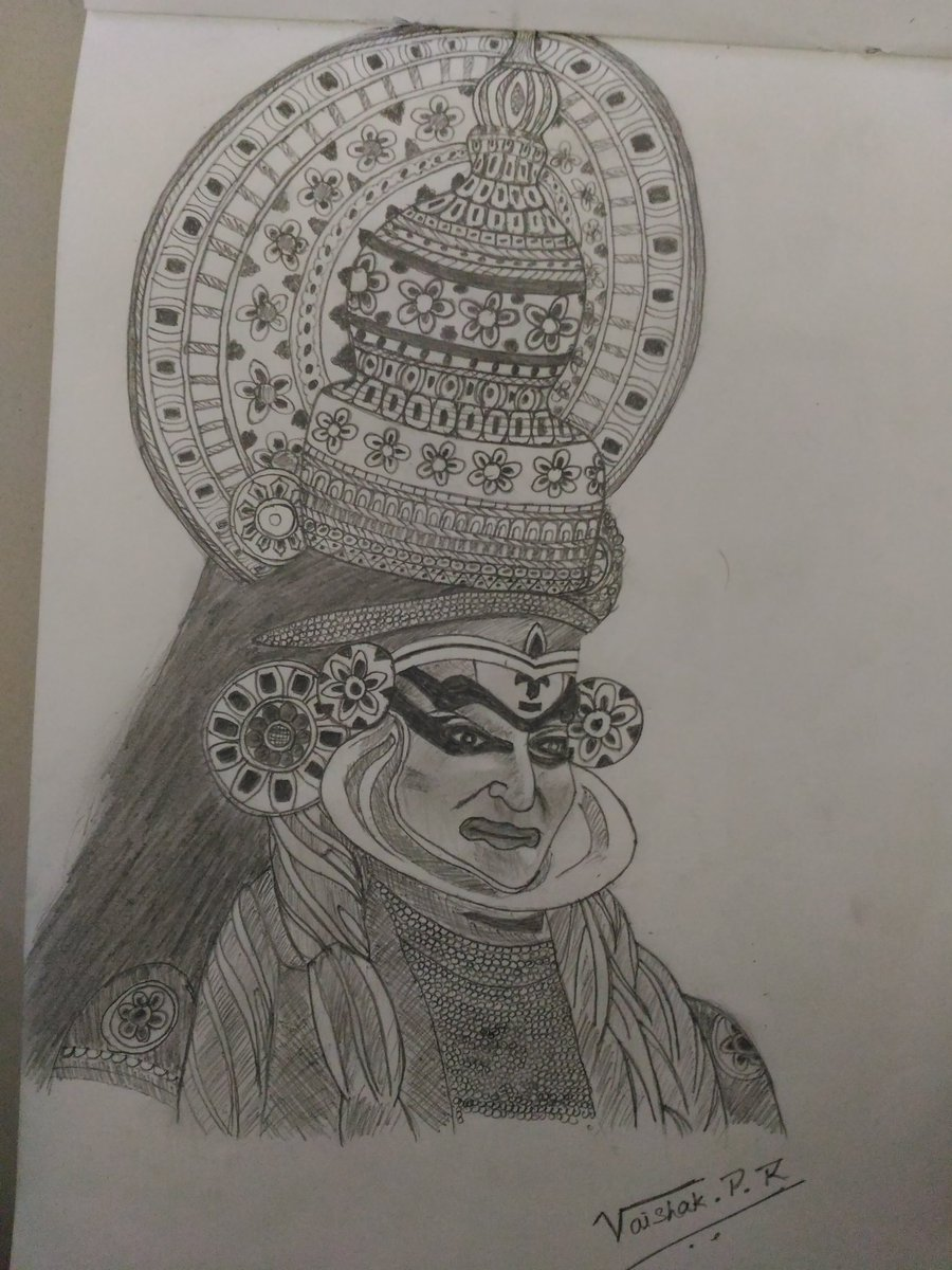 Vaishak p r on twitter kathakali kerala traditional art my art