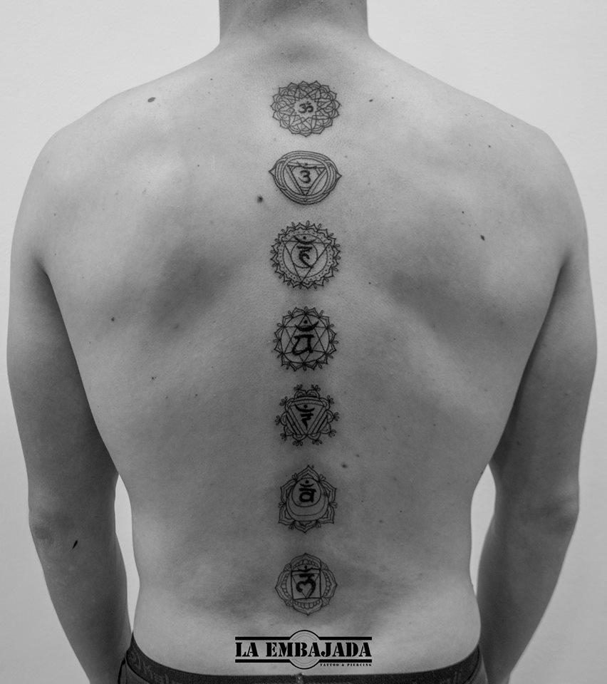 La Embajada Tattoo On Twitter Tatuaje De Chakras En La Columna