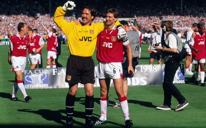 Two legends are celebrating today   Happy birthday Tony Adams and Charlie George