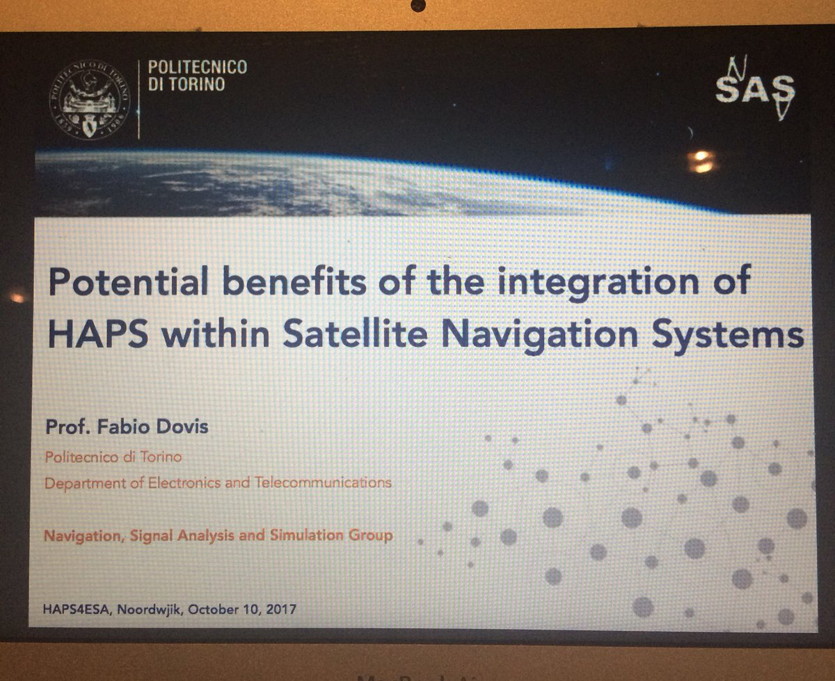 Today at HAPS4ESA we present our experience and view for the future for #HAPS + #GNSS<br>http://pic.twitter.com/1FmEpVew2Z