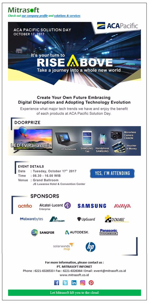 Mitrasoft Infonet On Twitter Mitrasoftevent Aca Pacific Solution Day Em Cing Digital Disruption And Adopting Technology Evolution