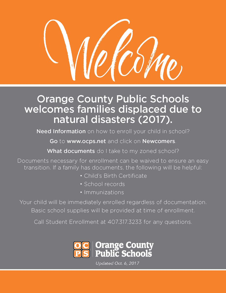 Ocps news on twitter orange county public schools welcomes ocps news on twitter orange county public schools welcomes families displaced due to 2017s various natural disasters aiddatafo Images