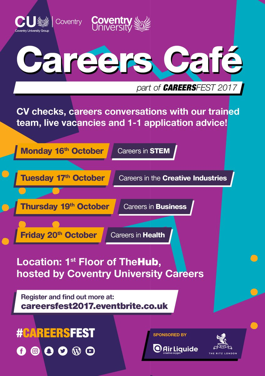 Coventry University Careers Advice and Guidance on Twitter
