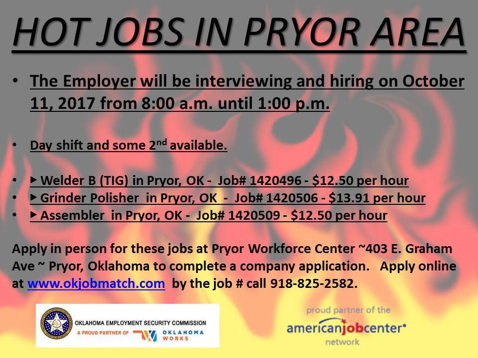 Jobs in pryor ok