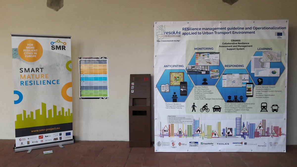 Zoom on the @SMR_Project_eu &amp; @RESOLUTE_eu posters at #CRITIS2017 @IMTLucca<br>http://pic.twitter.com/jEYuJ5Kwa0