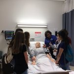 8th grade students visit nursing lab @MidlandsTech during health science field study. @mebasc #creatingcareerconnections #learntoearn