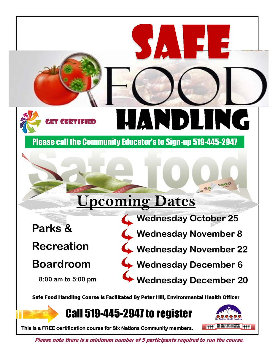 Six Nations Council On Twitter Looking To Get Your Safe Food