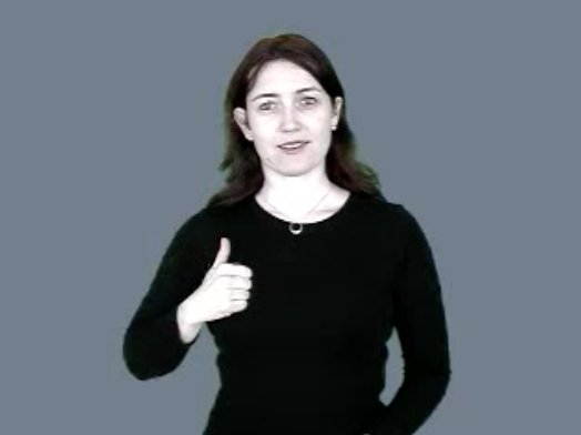 I am utterly delighted to learn that the ASL sign for 'Canada' is a smug thumbs up.