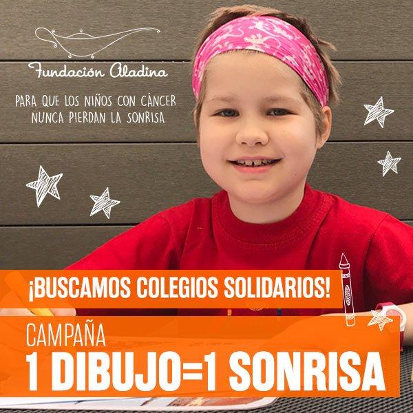 Resultado de imagen de campaña aladina UN DIBUJO UNA SONRISA