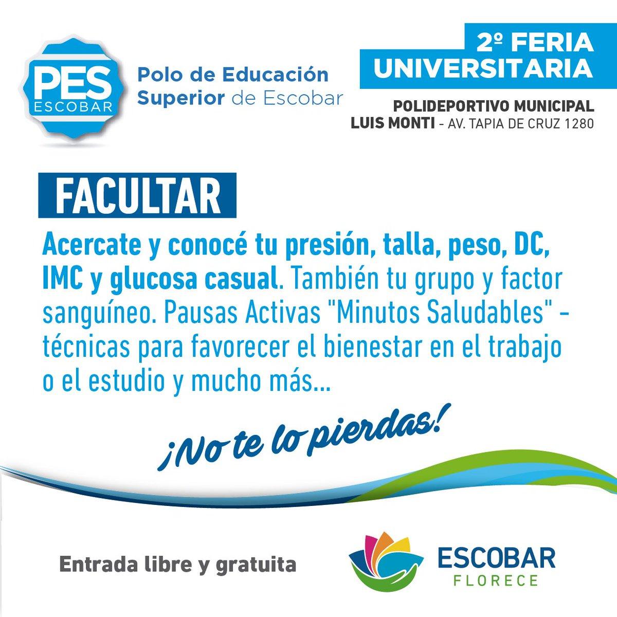 "PES Escobar on Twitter ""📢2º Feria Universitaria👩 🎓👨 🎓 Te"