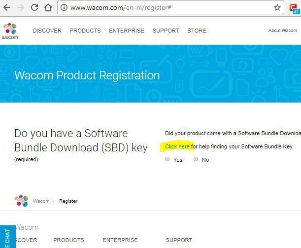 software bundle download key code wacom