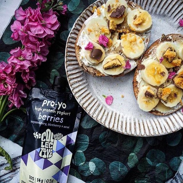 The @collectivedairy  is helping us eat #healthier, a high protein yoghurt mixed with real #fruit! Check it out at #BFM! <br>http://pic.twitter.com/1QuzNZ0G9V