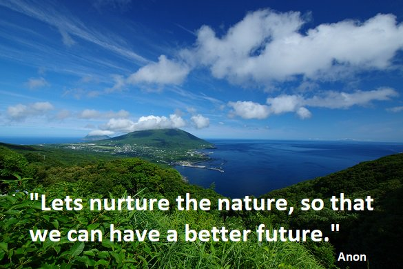 environmental quotes on lets nurture the nature so